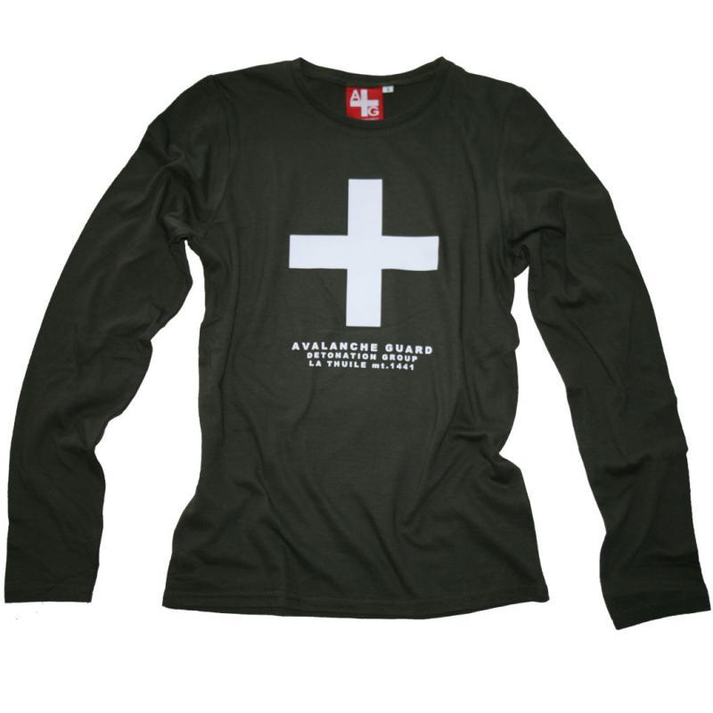 T-shirt Avalanche Caki Manica lunga