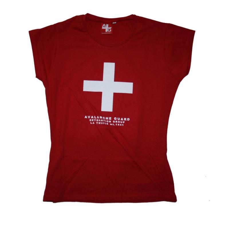 T-shirt Avalanche Rosso manica corta