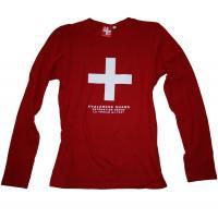T-shirt Avalanche Rosso manica lunga